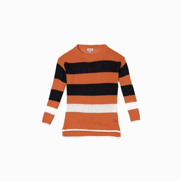 Suéter mujer E212 de algodón ligero cuello redondo