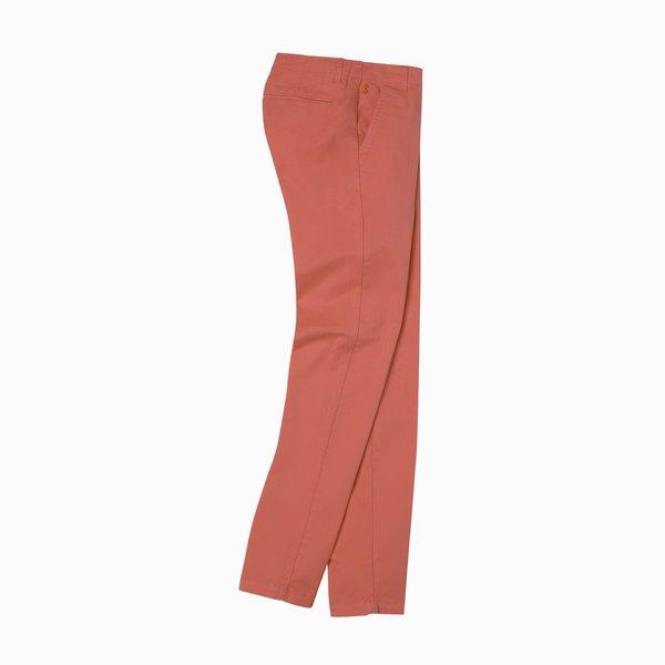 Pantalón chino para mujer E264 en sarga de algodón elástico