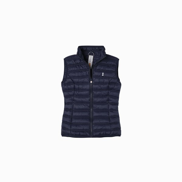 Woman vest E205 in ultralight nylon in solid color