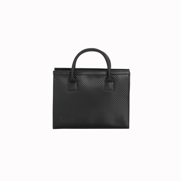 Bowler Woman Bag D923 Black rounded zip