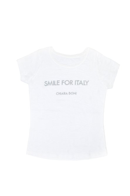 Smile for Italy T-shirt Chiara Boni La Petite Robe Donna