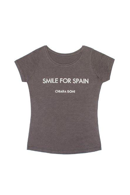 Smile for Spain T-shirt Chiara Boni La Petite Robe Donna