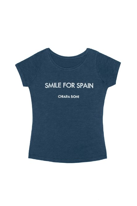 Smile for Spain T-shirt Chiara Boni La Petite Robe Donna