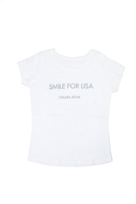Smile for USA T-shirt Chiara Boni La Petite Robe Donna