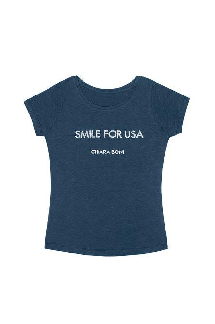 Smile for USA T-shirt Chiara Boni La Petite Robe Woman