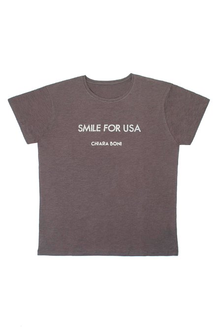 Smile for USA T-shirt Chiara Boni La Petite Robe Uomo