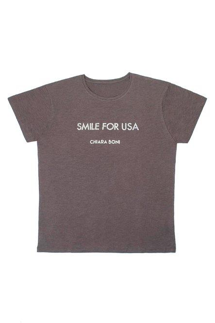 Smile for USA T-shirt Chiara Boni La Petite Robe Man