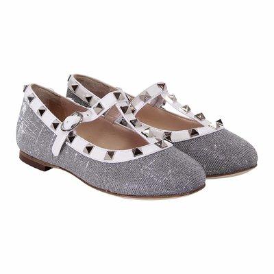 Silver non-woden ballerinas