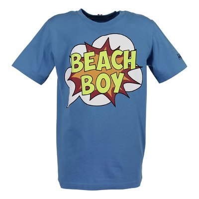 T-shirt blu Beach Boy in jersey di cotone