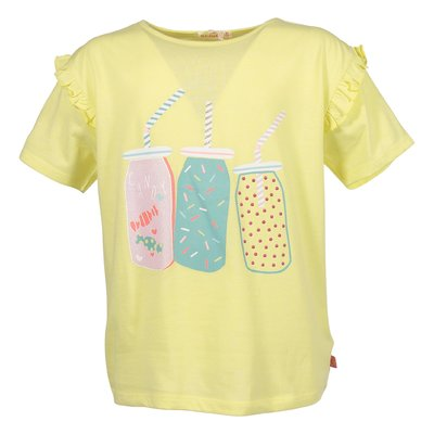 T-shirt gialla in jersey di cotone