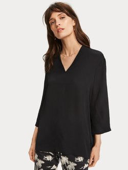 Crepe V-Neck Top