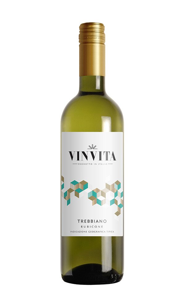 Trebbiano Rubicone by Vinvita (Italian White Wine - Case of 6)