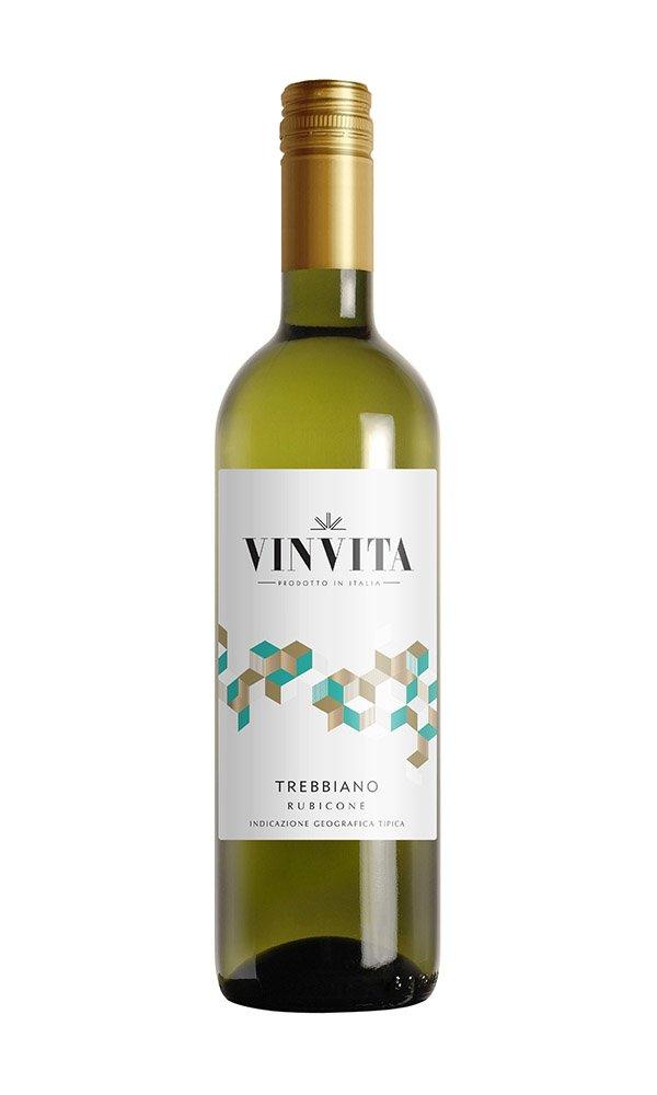 Trebbiano Rubicone by Vinvita (Italian White Wine - Case of 6)
