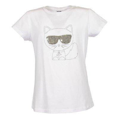 T-shirt bianca Choupette in jersey di cotone